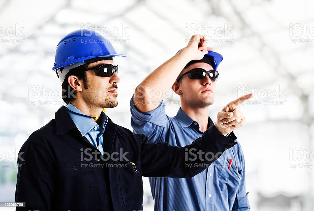Engineers at work royalty-free stock photo