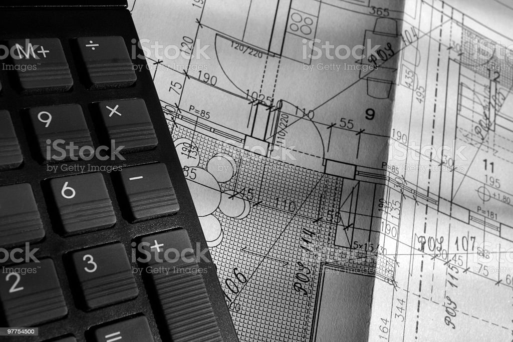Engineers calculation stock photo