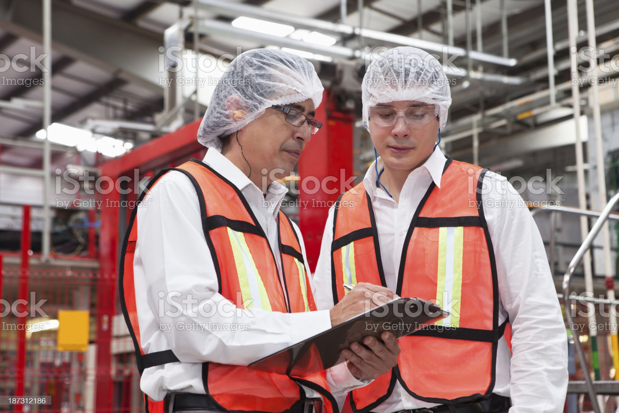 Engineers in Factory royalty-free stock photo