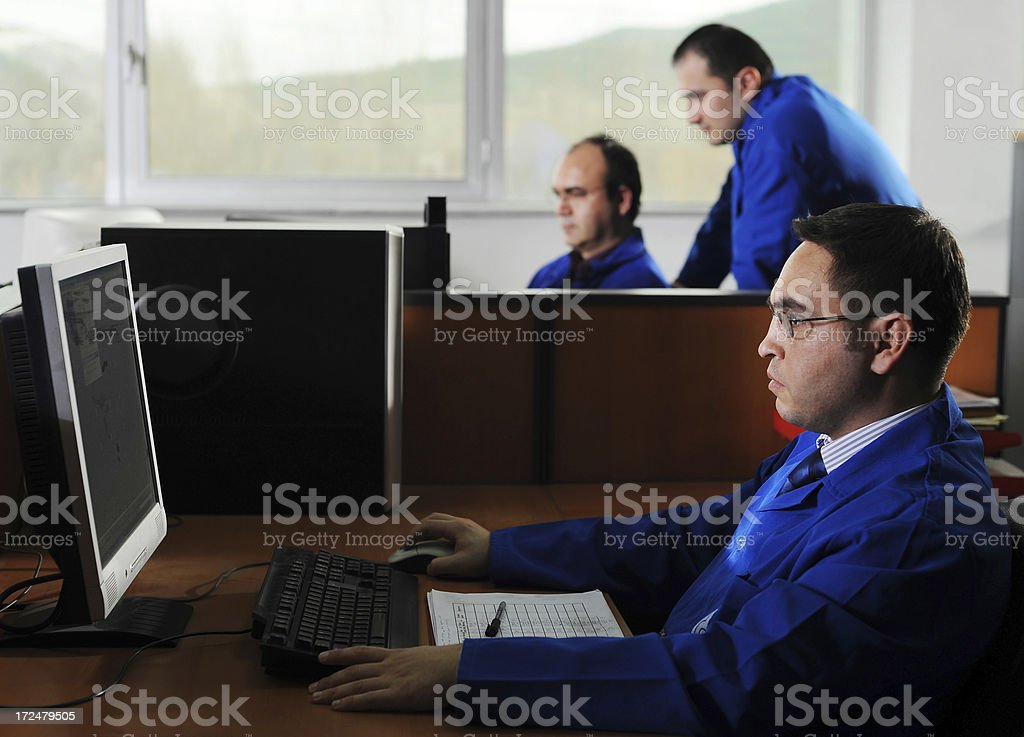 Engineers on their job royalty-free stock photo