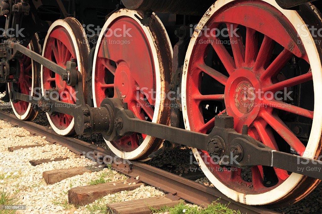 Engine's wheels stock photo