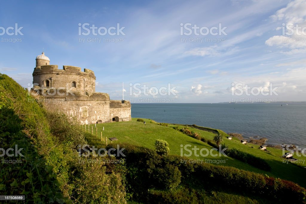 England, Cornwall, St Mawes Castle stock photo