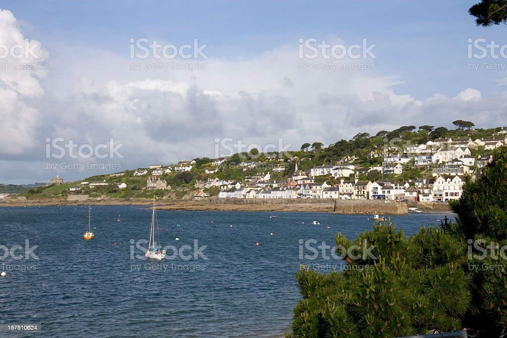 England, Cornwall, St Mawes, the picturesque harbour and town stock photo
