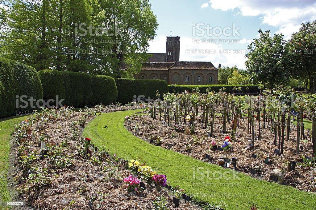 England: Crematorium and Cemetery at Horsham St. Faith stock photo