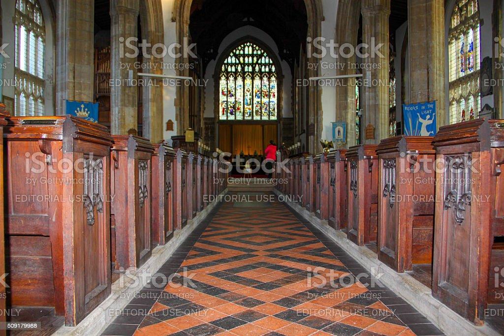 England: Cromer Parish Church stock photo