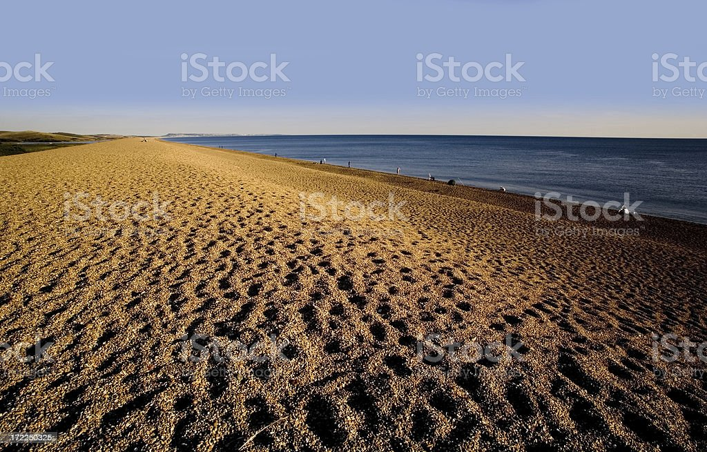 england dorset coast chesil beach stock photo