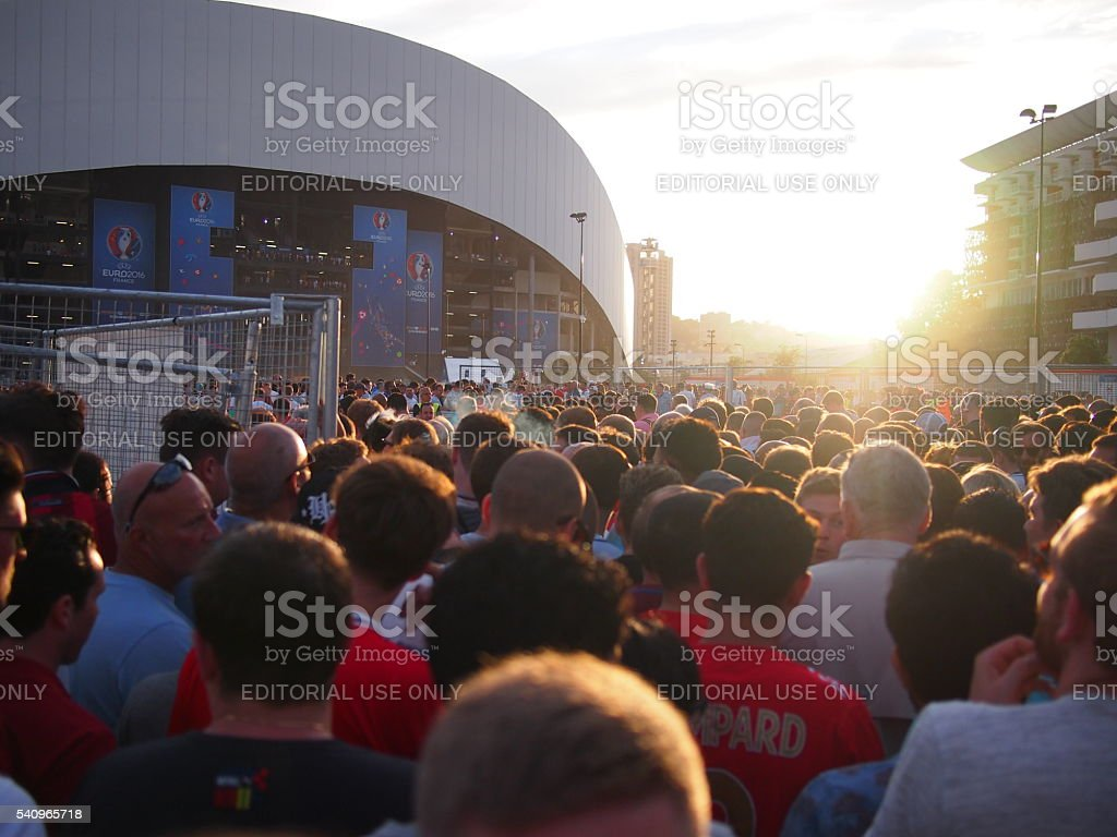 England fans in Marseille stock photo