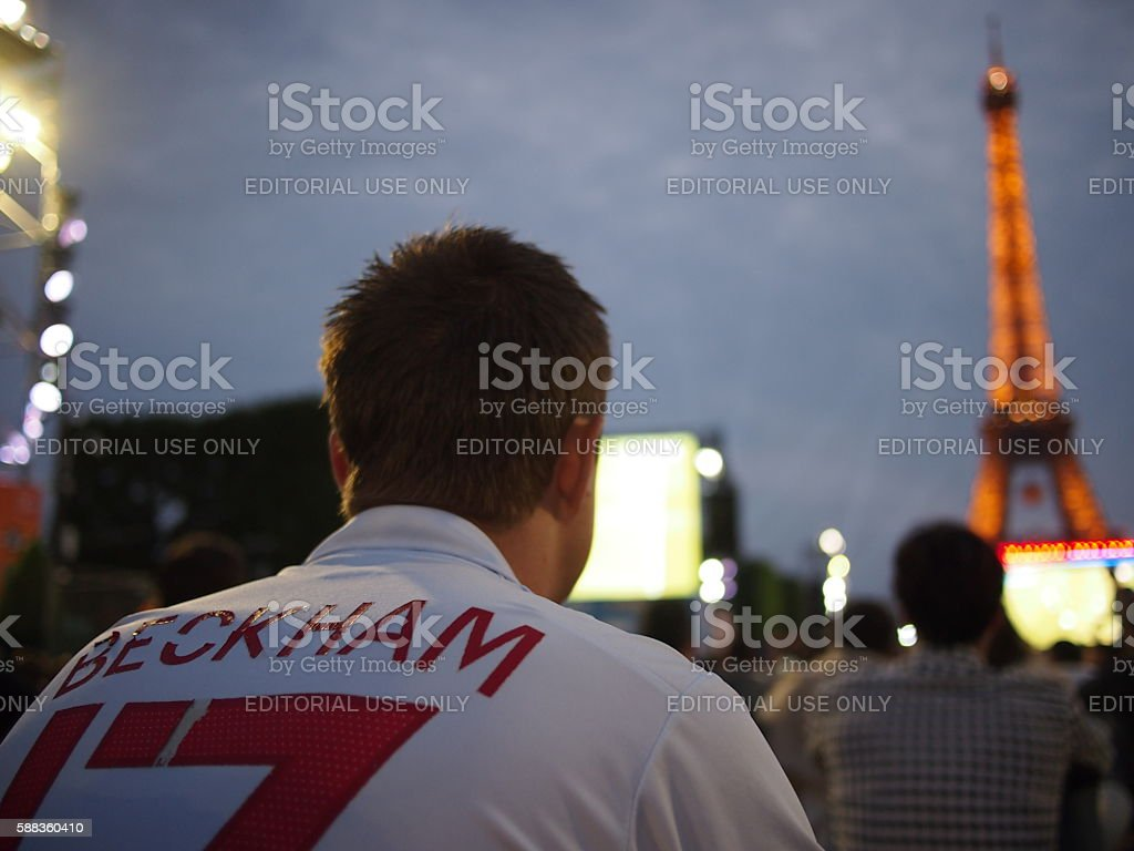 England fans watch them lose it Iceland stock photo