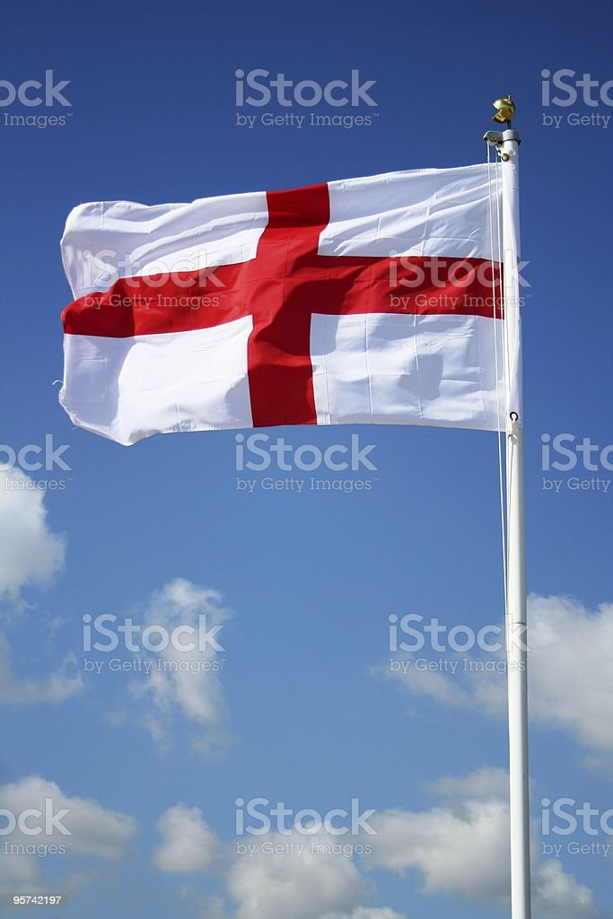 England Flag Against a Summer Sky royalty-free stock photo