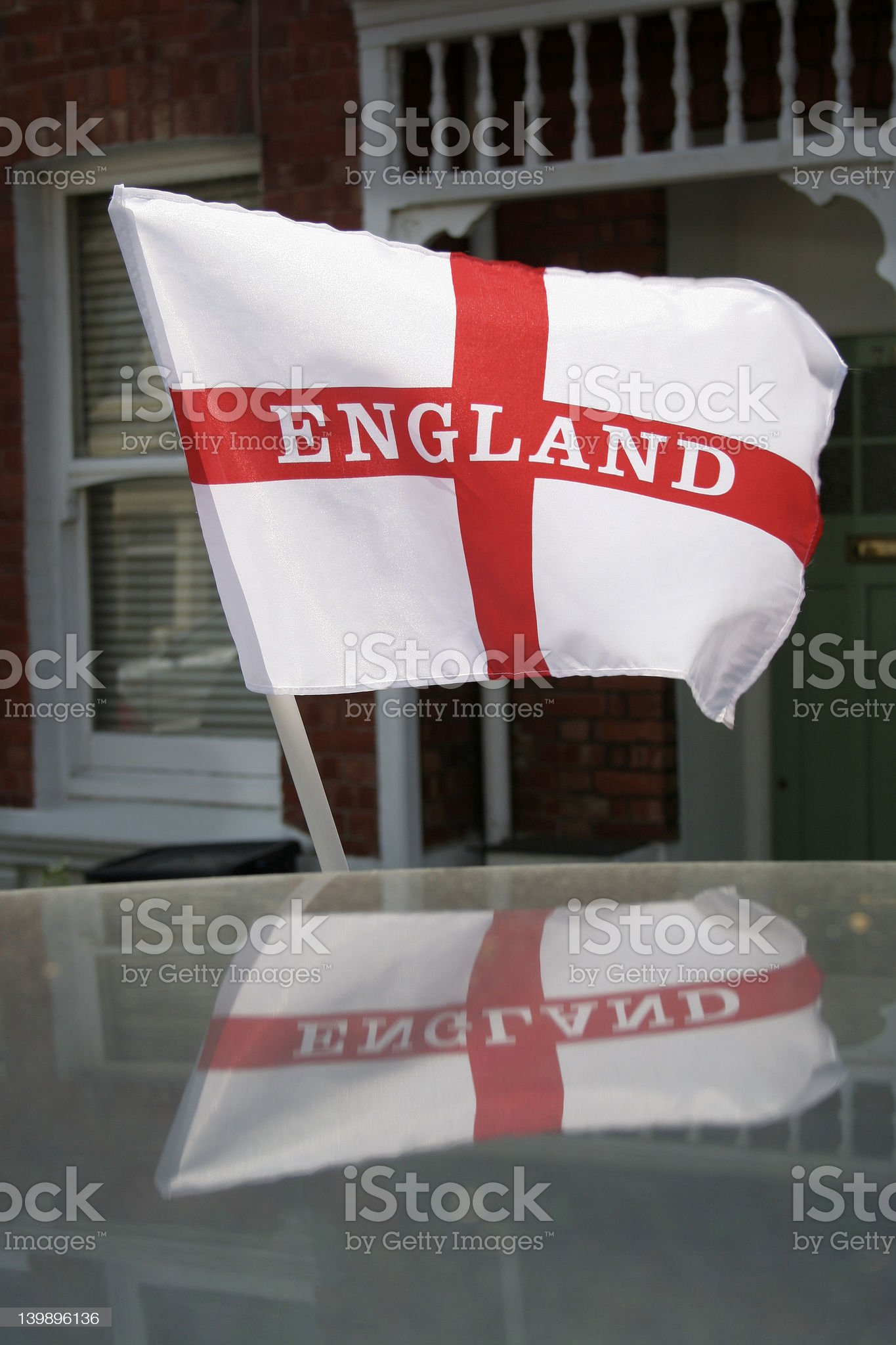 England flag and reflection royalty-free stock photo