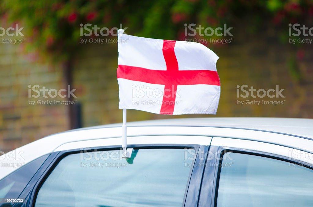 England flag on the car stock photo