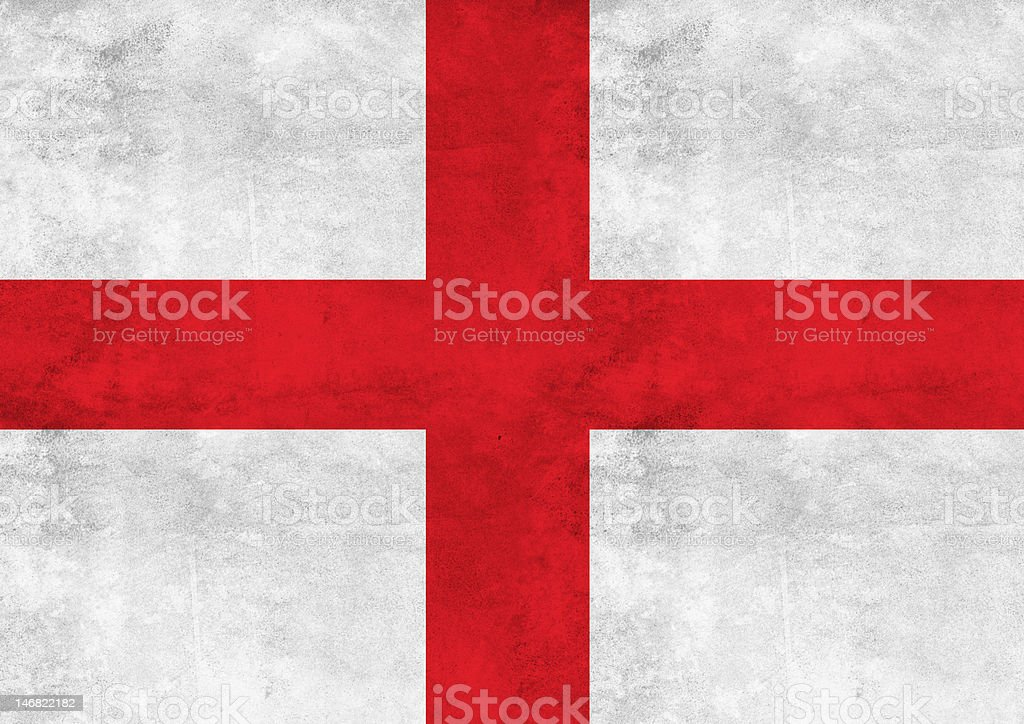 England flag on vintage paper stock photo
