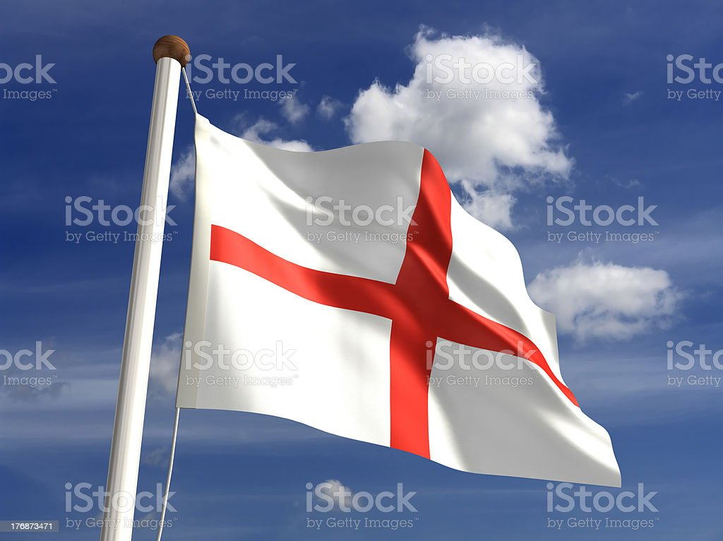 England flag (with clipping path) stock photo