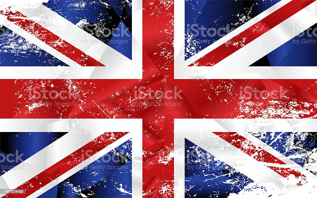 England flag with polygonal effect sample royalty-free stock photo