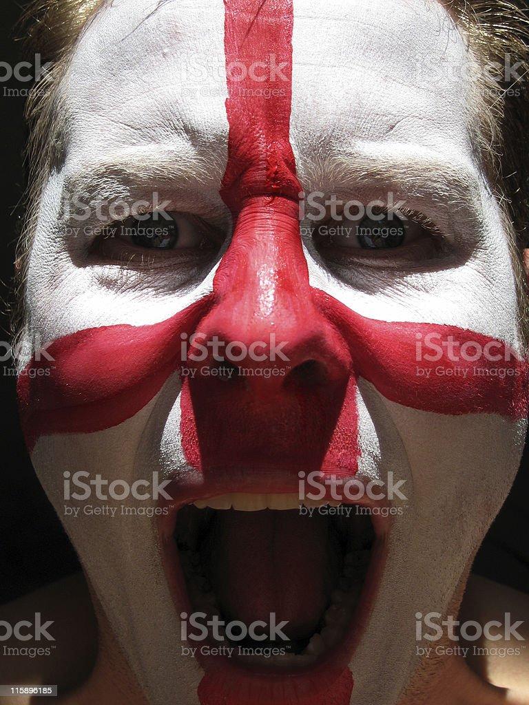 England Football Fan royalty-free stock photo