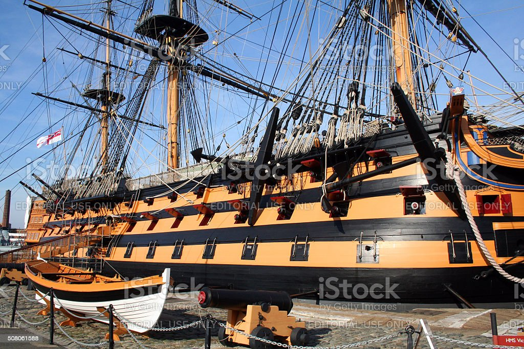 England: HMS Victory at Portsmouth stock photo