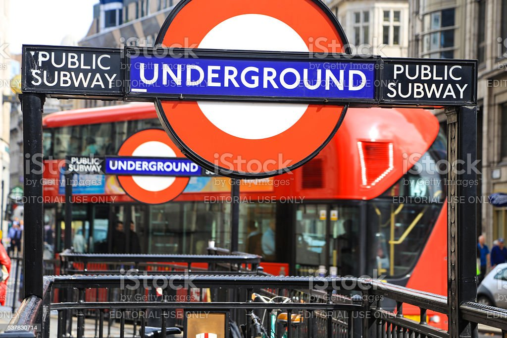 England. London's underground stock photo