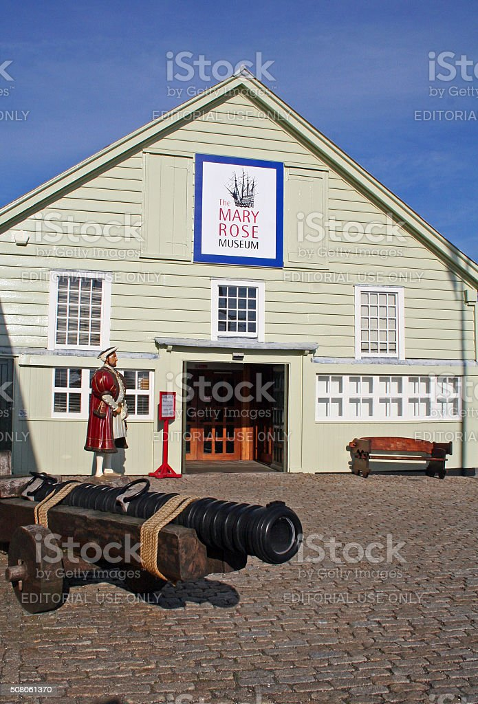 England: Mary Rose at Portsmouth stock photo