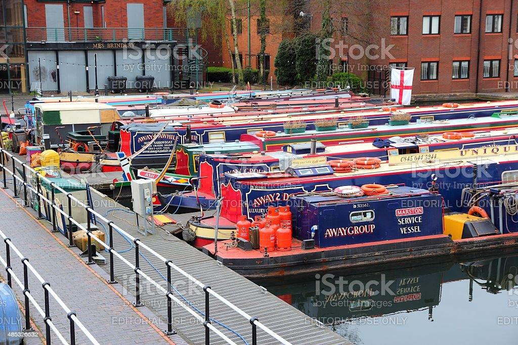 England narrowboats stock photo