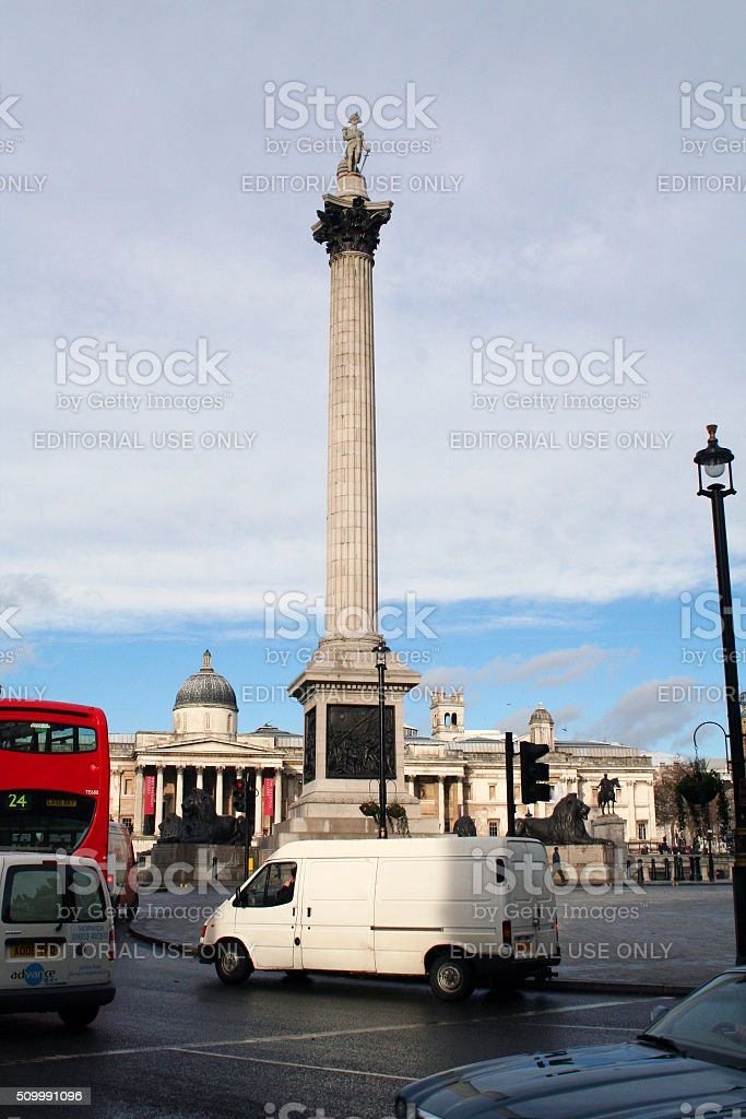 England: Nelson's Column in London stock photo