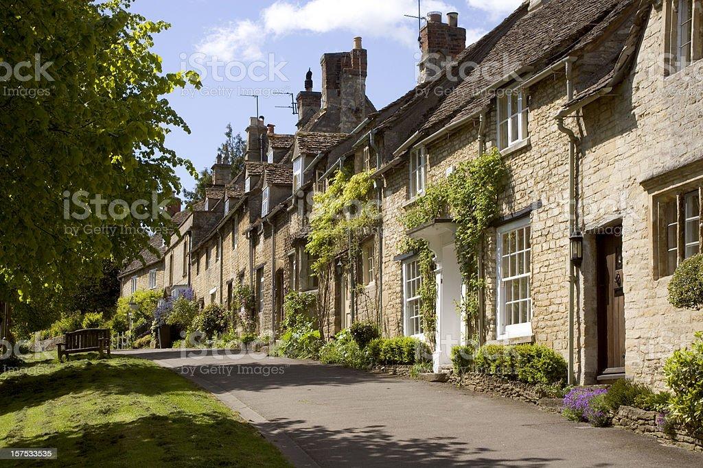 England, Oxfordshire, Cotswolds, Burford street scene royalty-free stock photo