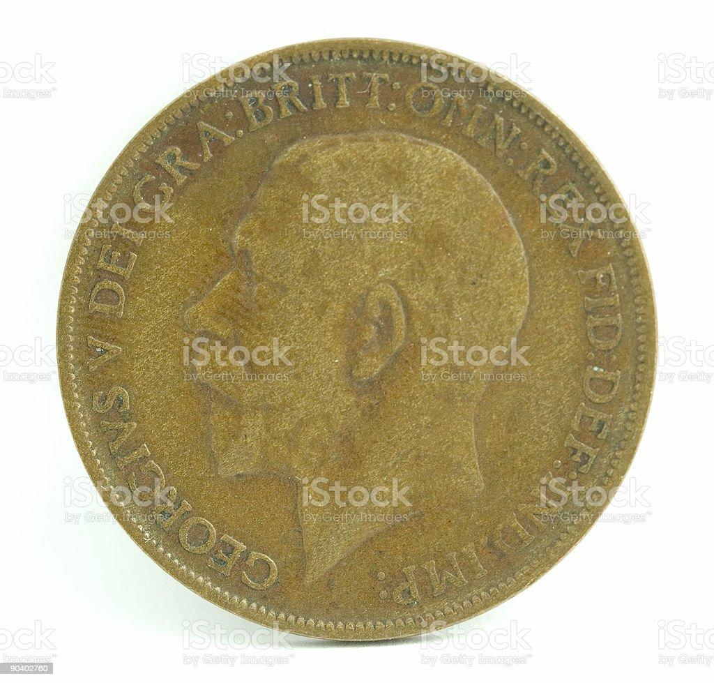England Penny royalty-free stock photo