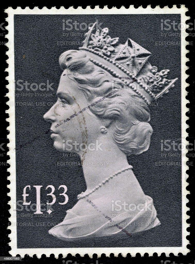England Postage Stamp royalty-free stock photo