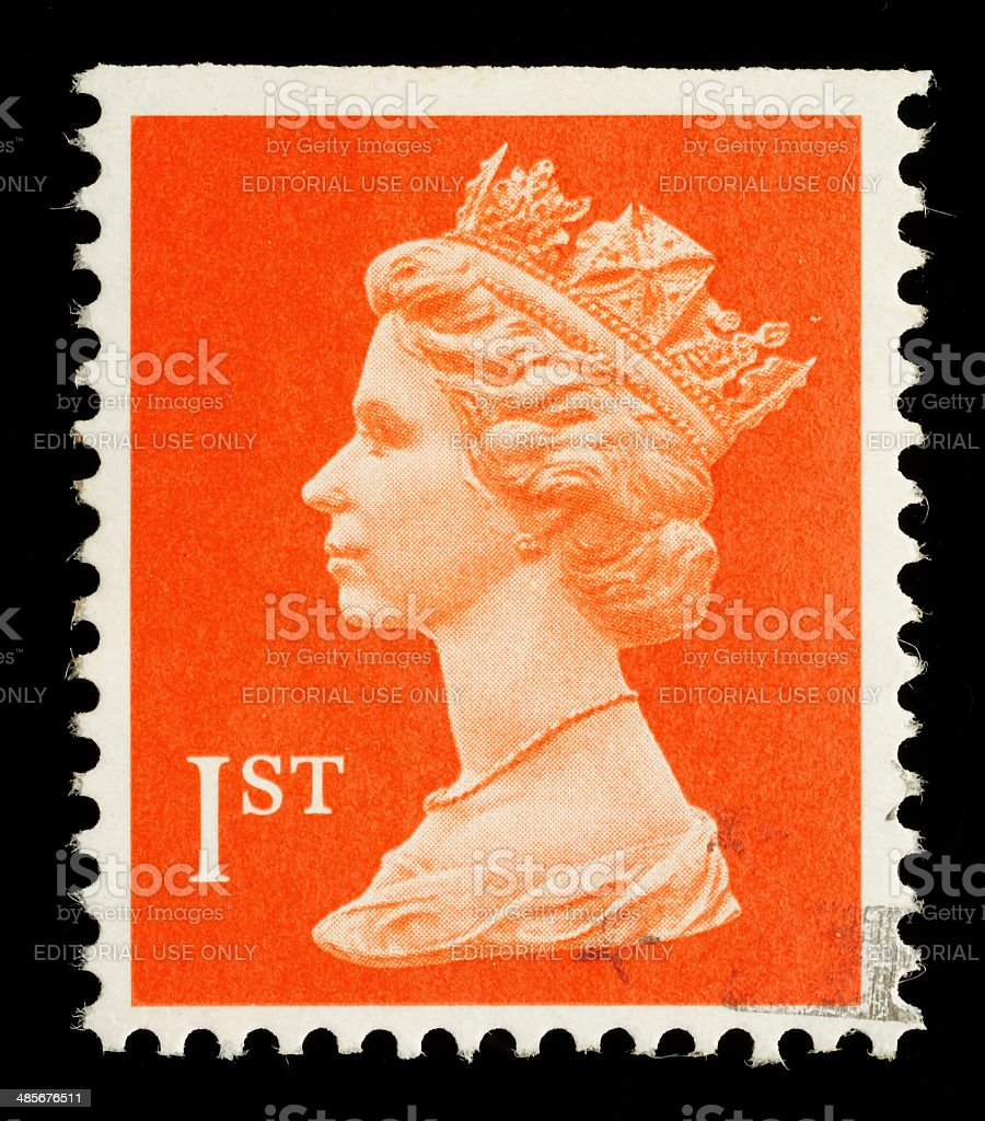 England Postage Stamp stock photo