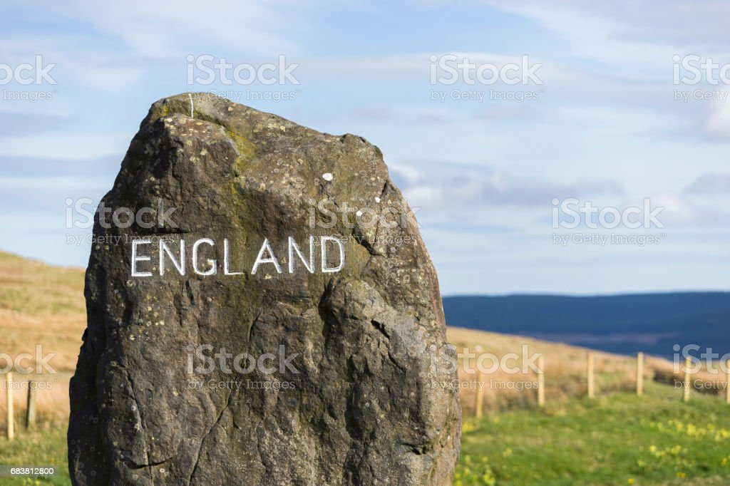 England Sign, on the Border Between England and Scotland stock photo
