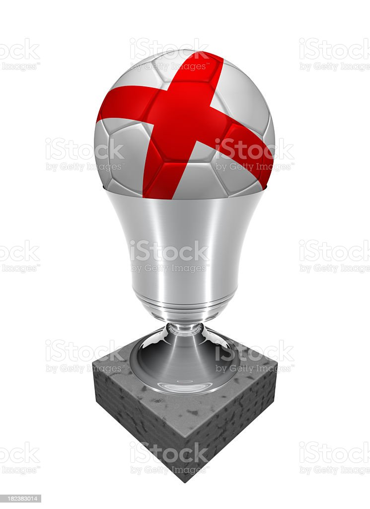 england soccer ball in a trophy royalty-free stock photo