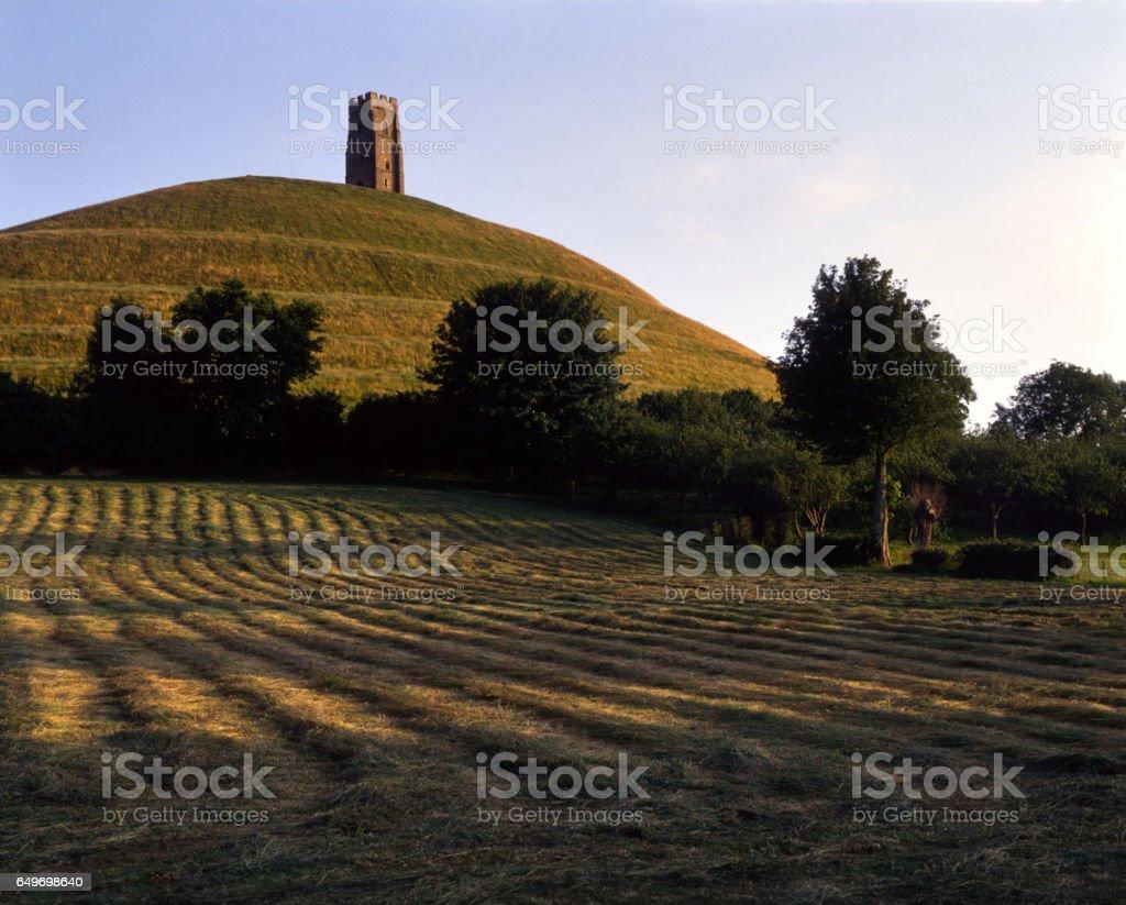 England, Somerset, Glastonbury Tor stock photo