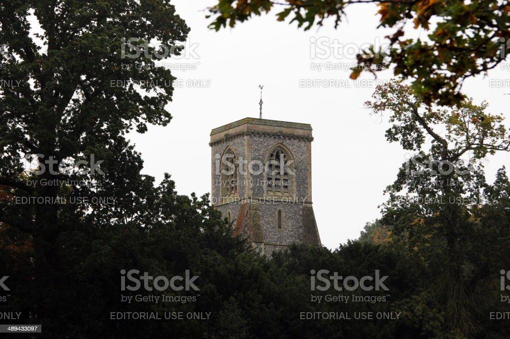 England: St. Andrew's Church near Blickling Hall stock photo