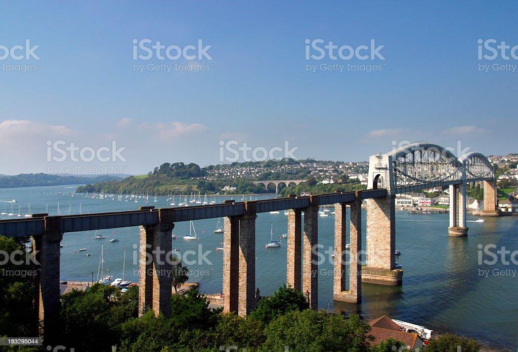 England, Tamar, Brunels rail bridge stock photo