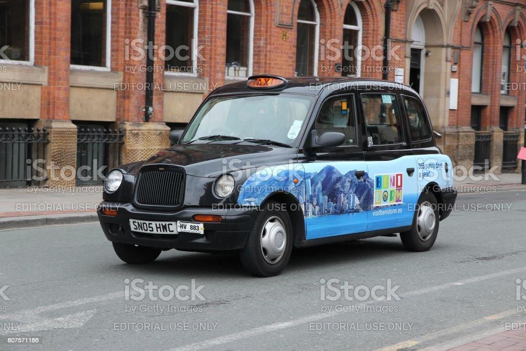 England taxi cab stock photo