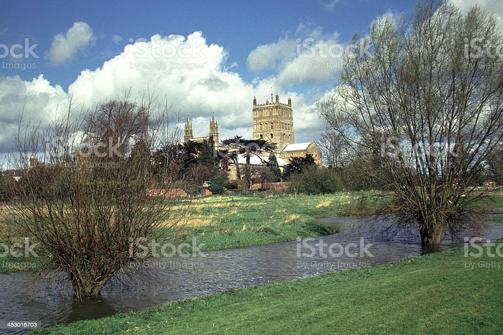 England, Tewkesbury Abbey stock photo