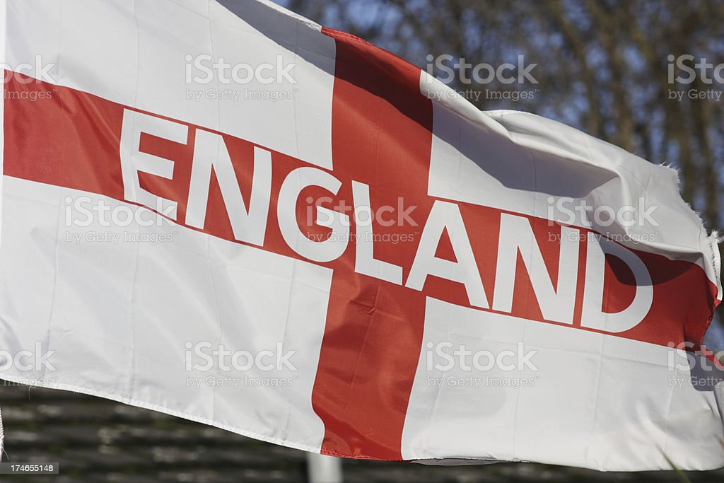English flag of St. George adapted for England football supporters royalty-free stock photo