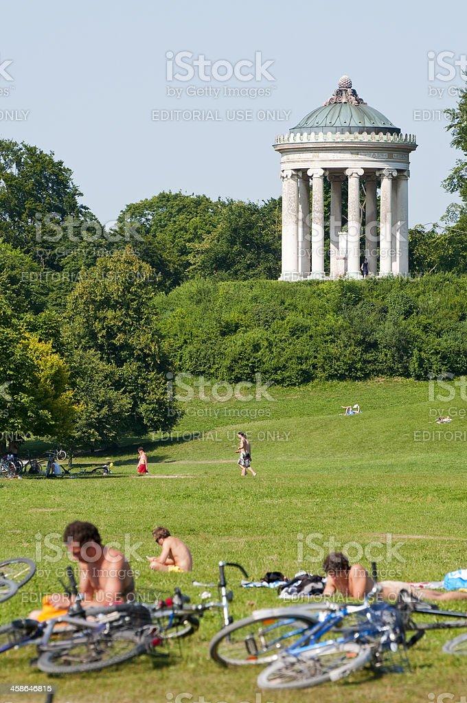 Englischer Garten - Munich stock photo