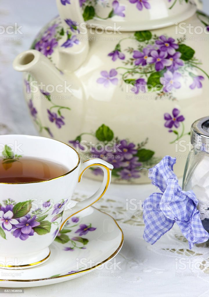 English afternoon tea stock photo