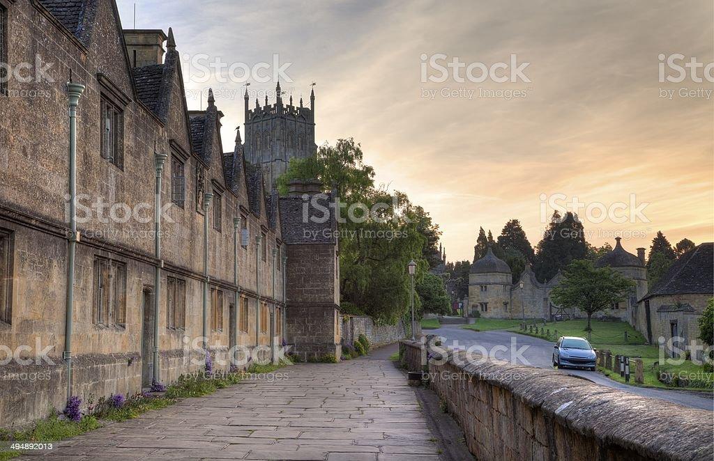 English Almshouses stock photo