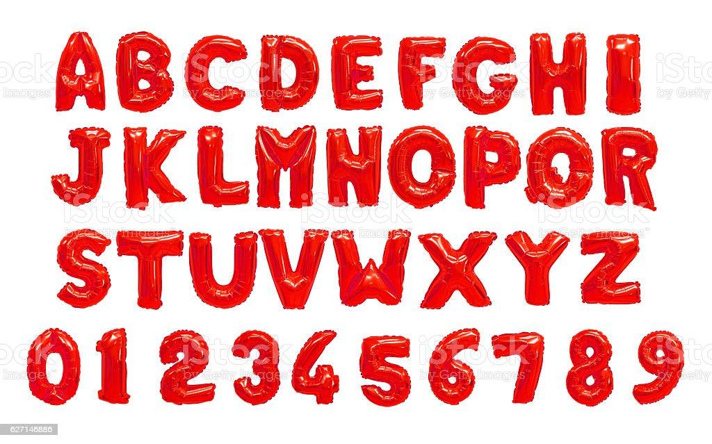 English alphabet red stock photo