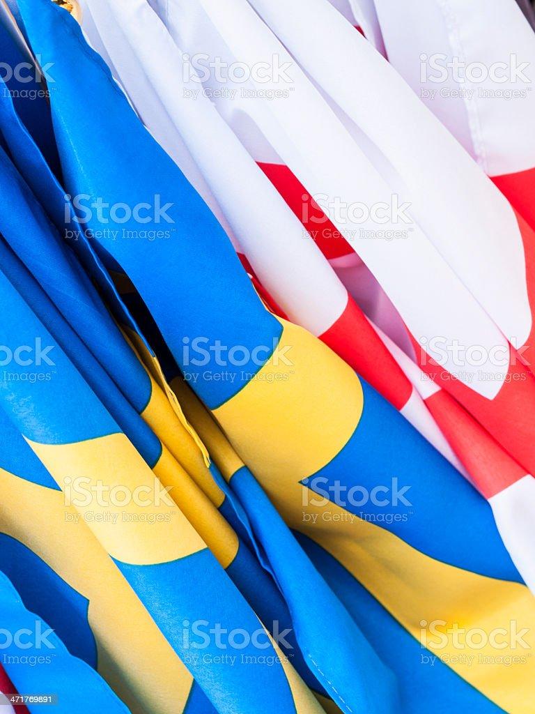 English and Swedish flags royalty-free stock photo