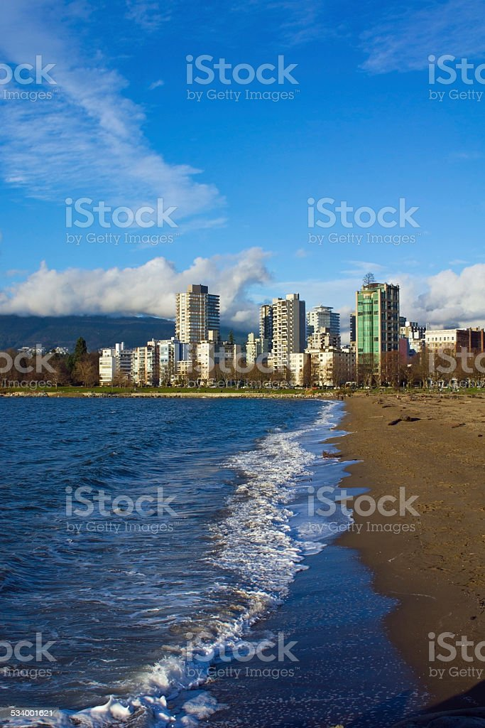English Bay Beach, Vancouver stock photo