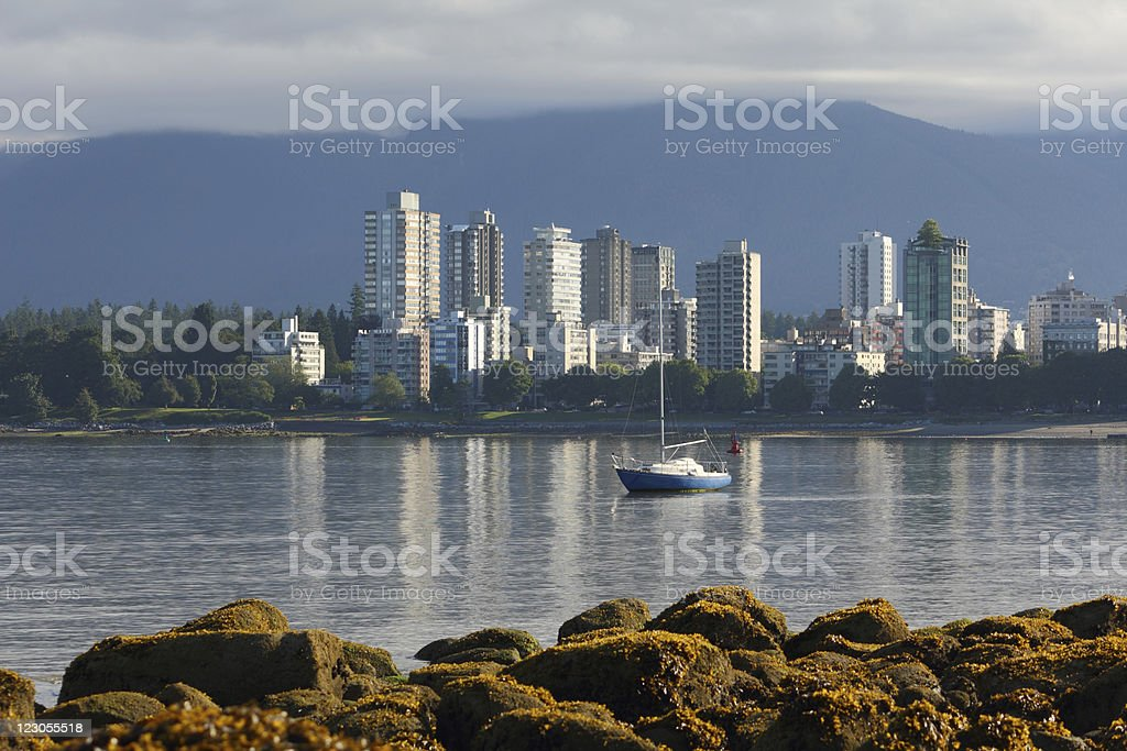English Bay Low Tide, Vancouver stock photo