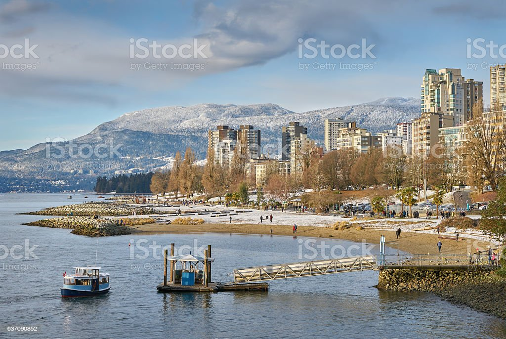 English Bay Winter, Vancouver stock photo