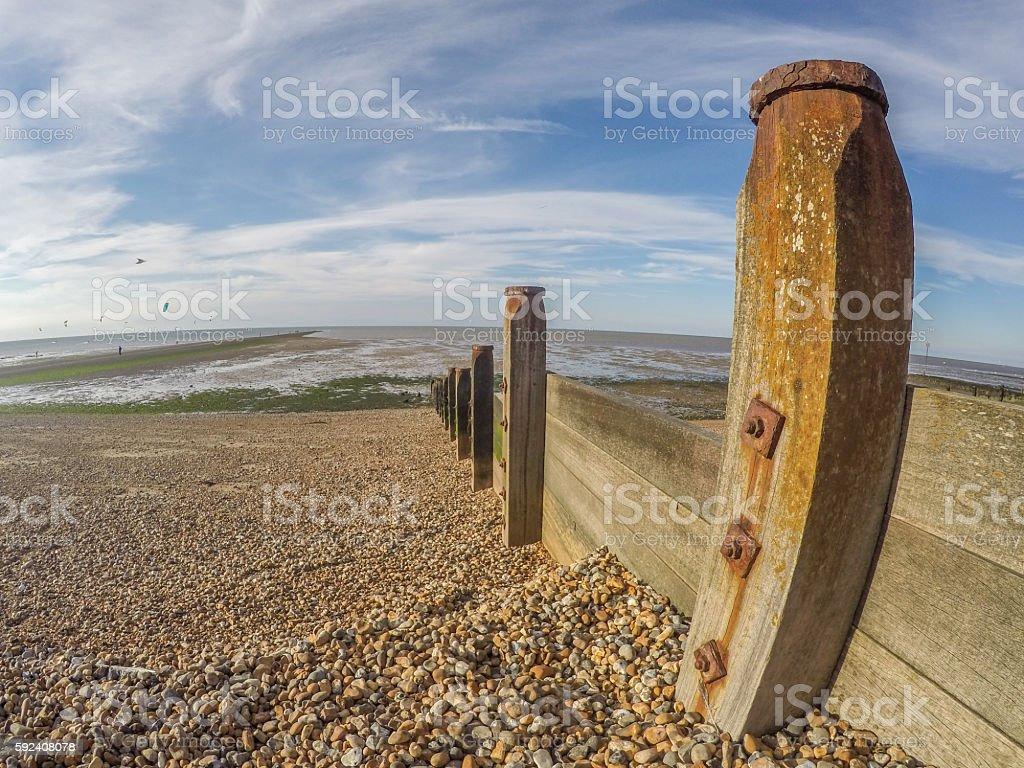 English beach at Whitstable, Kent stock photo