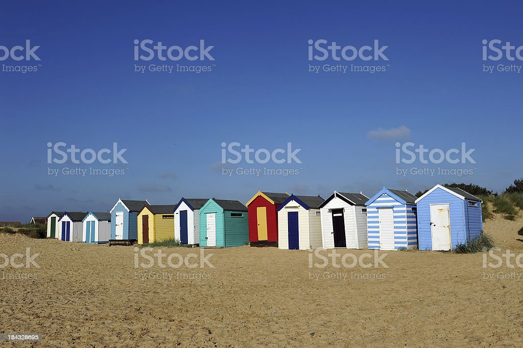 English Beach Huts stock photo