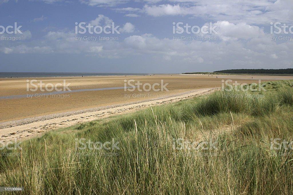 English beach scene, Norfolk royalty-free stock photo