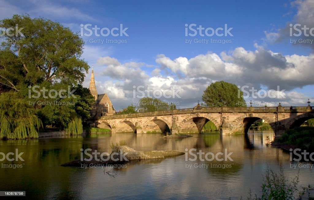 English Bridge, Shrewsbury royalty-free stock photo