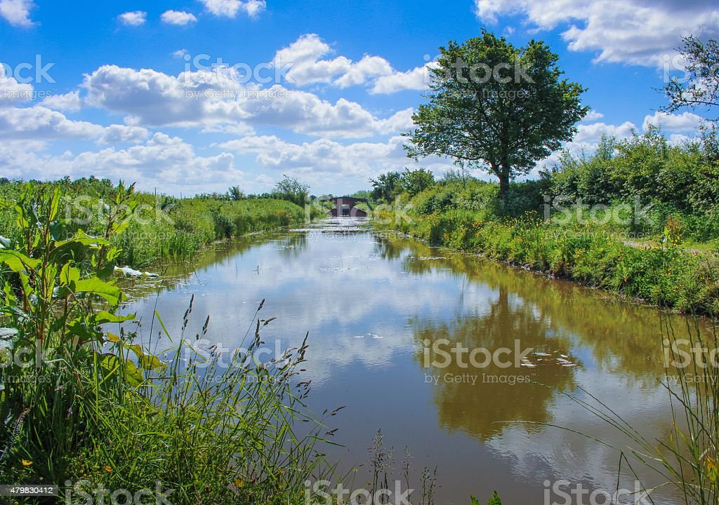 English canal stock photo