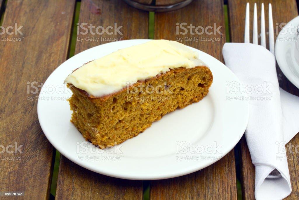 English carrot cake royalty-free stock photo